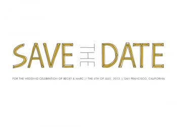 native Save the Date Cards