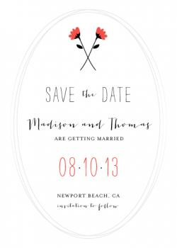Sweet Florals Save the Date Cards