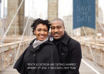 Pennant Save the Date Cards