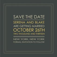 Save Our Square Save the Date Cards