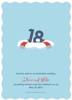 Lifesaver Save the Date Cards
