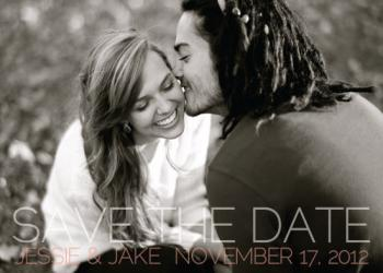 Opaque Type Save the Date Cards