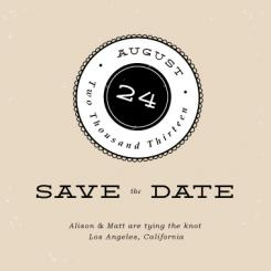 Simply Scalloped Save the Date Cards