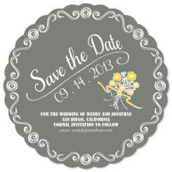 Bridal Bouquet Save the Date Cards