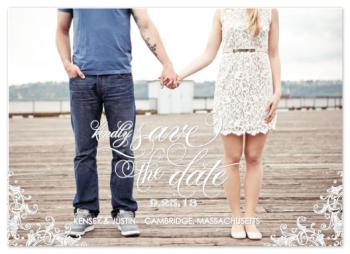Queen Anne Save the Date Cards