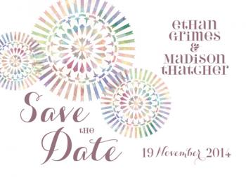 Color Us Engaged Save the Date Cards
