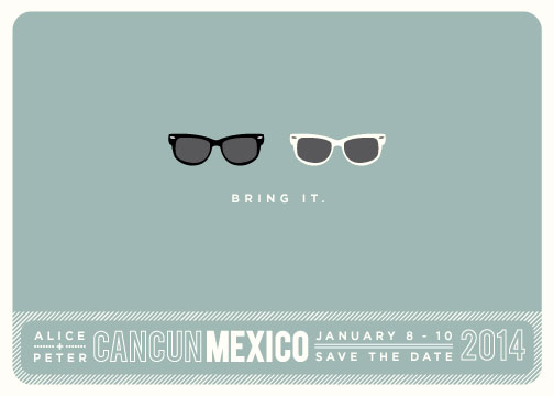 save the date cards - Shades by Olive and Violet