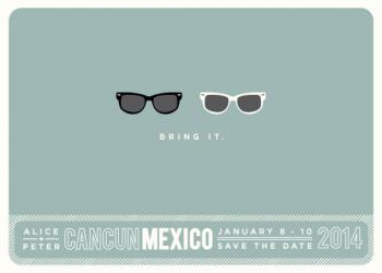 Shades Save the Date Cards
