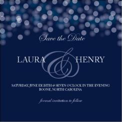Glimmering Lights Save the Date Cards
