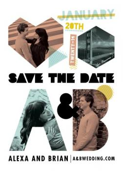 afiche Save the Date Cards