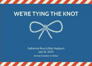 Nautical Knot Save the Date Cards