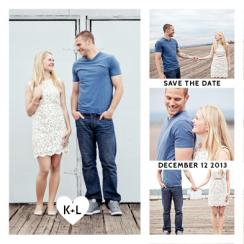Heart Filmstrip Save the Date Cards