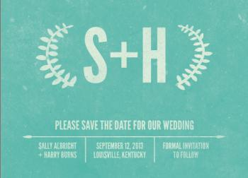 Vintage Laurels Save the Date Cards