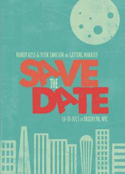 Moonlight Over Cityscape Save the Date Cards