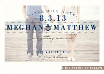 Yacht Club Save the Date Cards