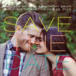 Vintage Meets Modern Save the Date Cards
