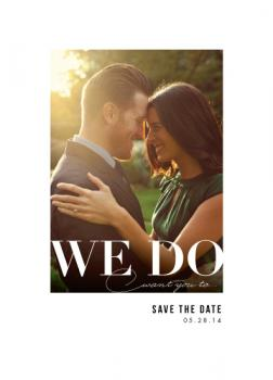 We Do Save the Date Cards