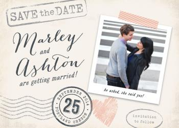 Stamped with Love Save the Date Cards