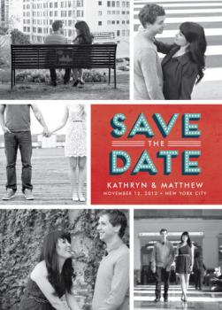 Marquee Date Save the Date Cards