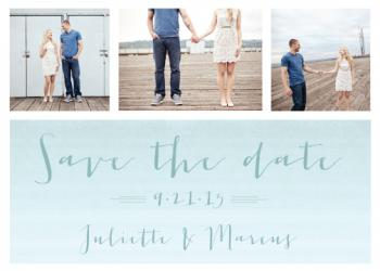 Sea Nuptuals Save the Date Cards