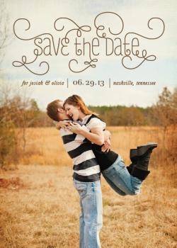 Ornamental Save the Date Cards