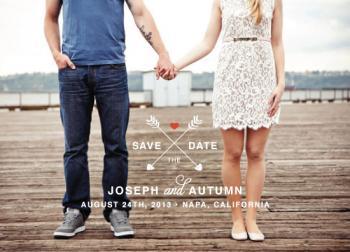 Arrows of Love Save the Date Cards