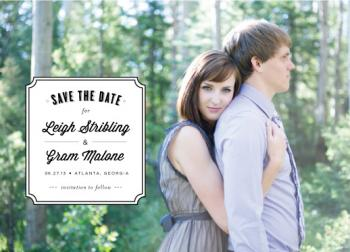 sophisticate Save the Date Cards