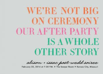 Our After Party Save the Date Cards