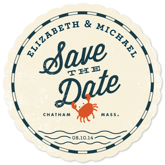 save the date cards - Salty Sea by Oscar & Emma