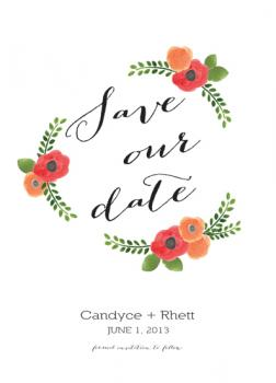 Garden Party Save the Date Cards