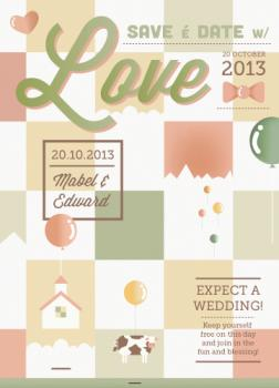 Floating house Save the Date Cards