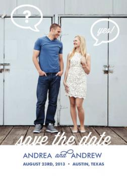 He Asked... Save the Date Cards