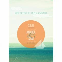 Setting off on Adventure Save the Date Cards