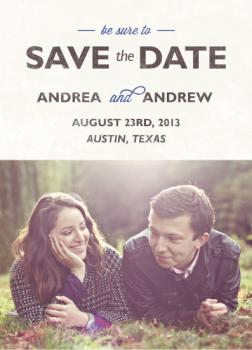 Backyard Wedding Save the Date Cards