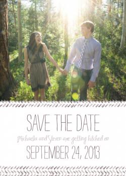 Lovely Brushstrokes Save the Date Cards