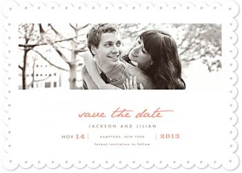 vanilla Save the Date Cards