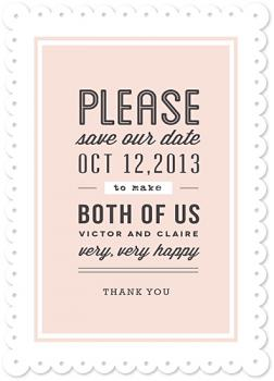 gallerie creme Save the Date Cards