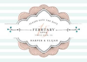 Sweet Nothings Save the Date Cards