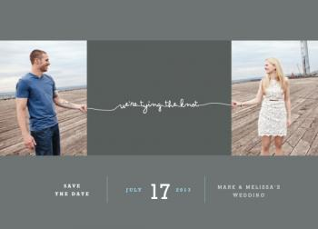 Fit to be tied Save the Date Cards