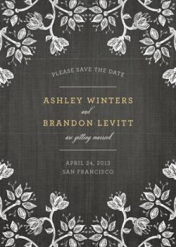 A Walk in the Woods Save the Date Cards