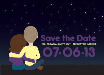 Stargazers Save the Date Cards