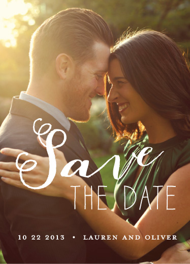 save the date cards - Double Loops by Susan Brown