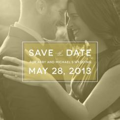 Crisp Opaque Save the Date Cards