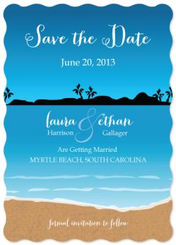 Beach Destination Save the Date Cards