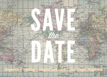 mapographic Save the Date Cards