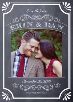 Vintage Chalkboard Save the Date Cards