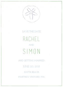 Sand Dollar Save the Date Cards