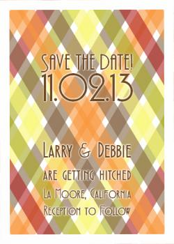 Crisscross Design Save the Date Cards