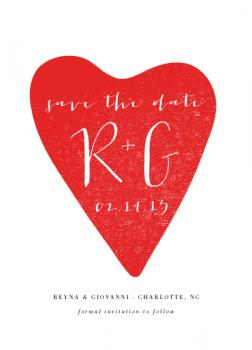 Happy Heart Save the Date Cards