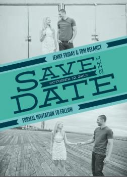 Photo Stripe Save the Date Cards